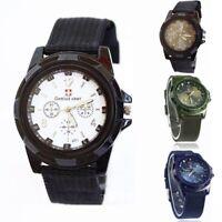 Fashion Gemius Army Racing Force Military Sport Mens Fabric Band Wrist Watch