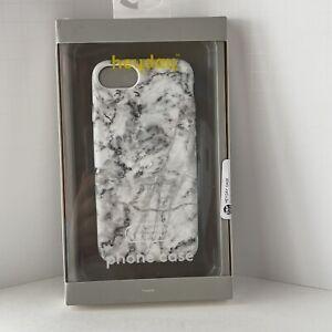 Heyday Iphone 6 7 8 & SE (2nd Gen) Phone Case Black & White Marbled