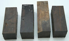 "4 African Blackwood With Defects 1 1/2""x 1 1/2""x 3 3/4"" Exotic Wood  AB-3"