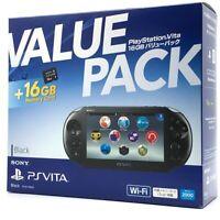 "SONY PS Vita PCH-2000 Slim Black Wi-Fi LCD w/ Charger, Box, 16GB ""Excellent"""