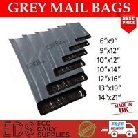 Strong Grey Mailing Post Poly Postage Bags Self Seal Cheap and Strong UK Made