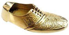 Vintage Brass Ashtray Shoe Engraved Home Decor Christmas Gifts India SOUVENIR