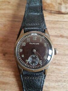 Rare Military German WW2 GLYCINE Watch