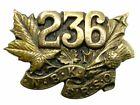 WW1 Canadian CEF 236th Battalion Collar Insignia Single