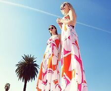 New Diane von Furstenberg DVF Barths Silk Maxi Dress Eden Garden, 6 Multi Color