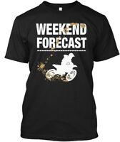 Weekend Forecast-motocross! - Forecast Hanes Tagless Tee T-Shirt