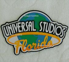 UNIVERSAL STUDIOS Florida Die Cut Title Disney Scrapbook Page Paper Piece