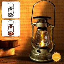 Vintage Solar Power LED Hanging Light Lantern Candle Lamp Outdoor Garden Decor