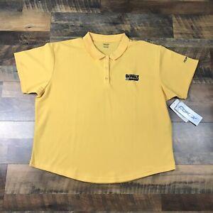 NASCAR DeWalt Racing Women's Polo Shirt 3X XXXL Yellow Brand New With Tags