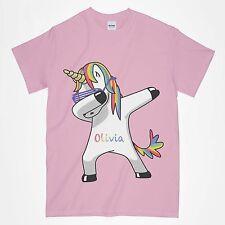 Girls Unicorn T Shirt Personalised T Shirt Any Name Dabbing Unicorn T Shirt Dab