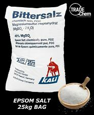 EPSOM SALTS | 25kg BAG | FOOD GRADE | Magnesium Sulphate Bath Salt