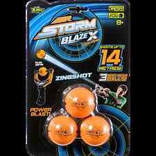 Nueva Marca Air Storm Blaze X largo alcance munición Zing Shot Lanzador Recargas bolas