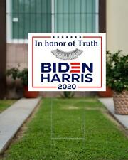 Vote Biden Harris In Honor Of Truth Yard Sign, Political Voting President Sign