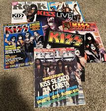 KISS Magazine Lot - Classic Rock, Pelo, Live!, Strike, Psycho Circus