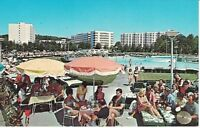 Postcard NY Concord Hotel Catskills Chrome Exterior Poolside VTG Clothes Table