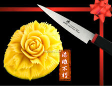 """Classic Japanese Steel Fruit Carving 3.5"""" Knife Chef's Tool Kitchenware New"""