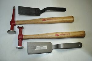 Mac Tools - Four (4) Piece Lot - Auto Body Tools, Hammers, Dinging Spoons - USA