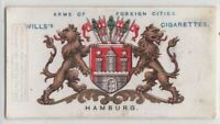 Hamburg Coat Of Arms Germany Hanseatic 100+ Y/O  Ad Trade Card
