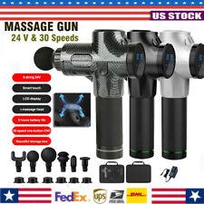 Massage Gun Percussion Massager 30 Speed Deep Tissue Muscle Vibrating Relaxing