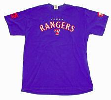 Texas Rangers MLB Blue T Shirt Dr Pepper CVS Logos US L