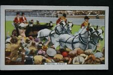 Royal Carriage Parade  Royal Ascot   Vintage 1930's Card  ### VGC