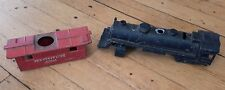 Lot of 2 Lionel O27 Gauge Metal Engine Caboose Post War Demolition Parts/Repair