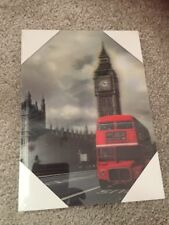 London England Big Ben Red Bus Hologram Print Picture