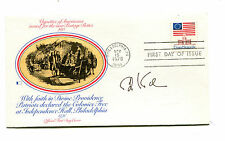 Autograph ED KOCH on FDC 1975 Flag Stamp Mayor of New York City