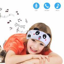 Kids Wireless Sleep Headband Headphones Children Sleeping Speakers White Panda