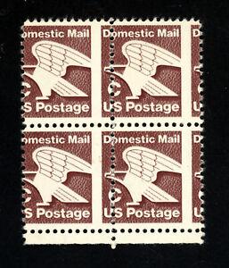 """SCOTT 1946 1981 20 CENT """"C"""" RATE CHANGE ISSUE MISPERF BLOCK OF 4 MNH OG!"""