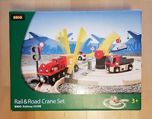 Brio Bahn 33208 Rail & Road Crane Set Straßen und Schienen Kran Set in OVP