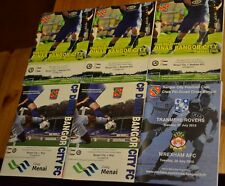 6 x Bangor City Welsh non-league football programmes from 2014/5