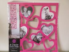 New 4 Decor Photo Panels Photo Frame Wall Hanging Pink By Living