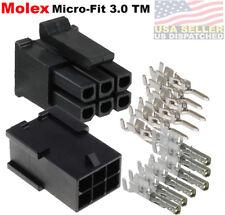 Molex  (6 Circuits) Male & Female Housing w/ Pins 20-24 AWG Micro-Fit 3.0™