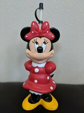 """Vintage Disney 10"""" Minnie Mouse Figurine Hard Plastic Drink Container With Straw"""