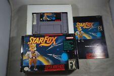 Starfox (Super Nintendo SNES) Complete in Box FAIR