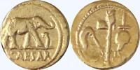 Julius Caesar Roman Coin Roman Empire, Republic to Empire, Denarius, (28-G)