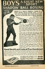 1927 small Print Ad of Yale Boys Shadow Ball Boxing a great new sport