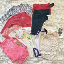 Bundle Of Girl's One Pieces & Pants 10 Items Size 3 Months NWT NWOT Leggings Set