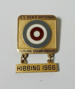 1966 US Men's National Curling Championship Hibbing Minnesota PIN