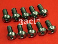 10pcs M5 x 12mm Titanium / Ti Bolt fit Elite Carbon, FSA, Bontrager Bottle Cage