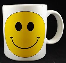 Vintage, ©1988, Trisar Inc White Mug w/ a Yellow Smiley Face - Rave, 1990s, Rad