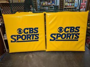 Vintage Original Set Of 2 CBS Sports Stadium Cushions