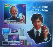 Steve Jobs  Apple computer  Mali 2011 s/s Imperf MNH #P159