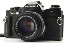 【ALMOST MINT】Olympus OM-4 Ti Black SLR Film Camera + Auto-s 50mm F1.8 From JAPAN