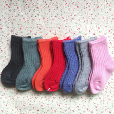 6 Pairs Child Girls Boys Kids Cashmere Wool Thicken Warm Multi-Color Socks 1-12Y