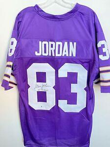 Steve Jordan Signed Minnesota Vikings Jersey Beckett BAS COA FREE SHIP Autograph