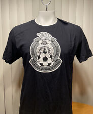Adidas Mexico Soccer FMF Crest Black T-Shirt Men's Size Large NWT