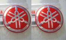 Yamaha GENUINE Classic Vintage Metal Tank Badge RED Emblem 55mm ***UK STOCK***