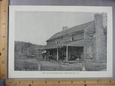 Rare Antique Original VTG Old John Ross House Ringgold GA Photogravure Art Print